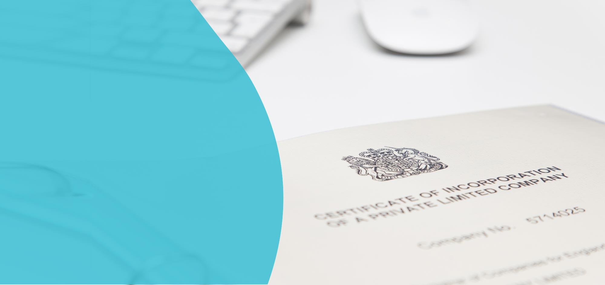 A close up image of a certificate of incorporation of a private limited company