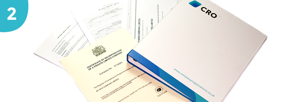A selection of certificates including a company registrations online folder